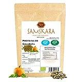 Proteina de Semillas de Calabaza (62% proteico) en Polvo | Ecológico Bio | de agricultura Europea | Samskara food for thought | Pumpkin Seed Protein - Vegano Sin Gluten 100% Natural (1kg)