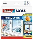 tesa 05432-00000-01 Cubierta Transparente para el Aislamiento Térmico de Ventanas, 6m