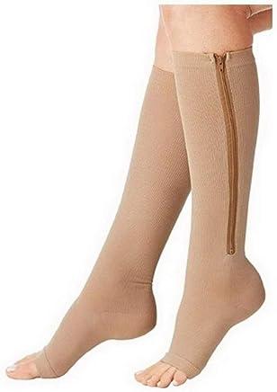 Kompressionsstrümpfe Kompressions Stulpen Socken mit Reißverschluss XXL