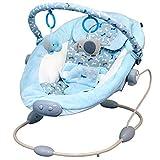 Babywippe mit Musik und Vibration Babyschaukel blau Jungen einstellbare Liegefläche und Spielebogen stabiles Metallgestell