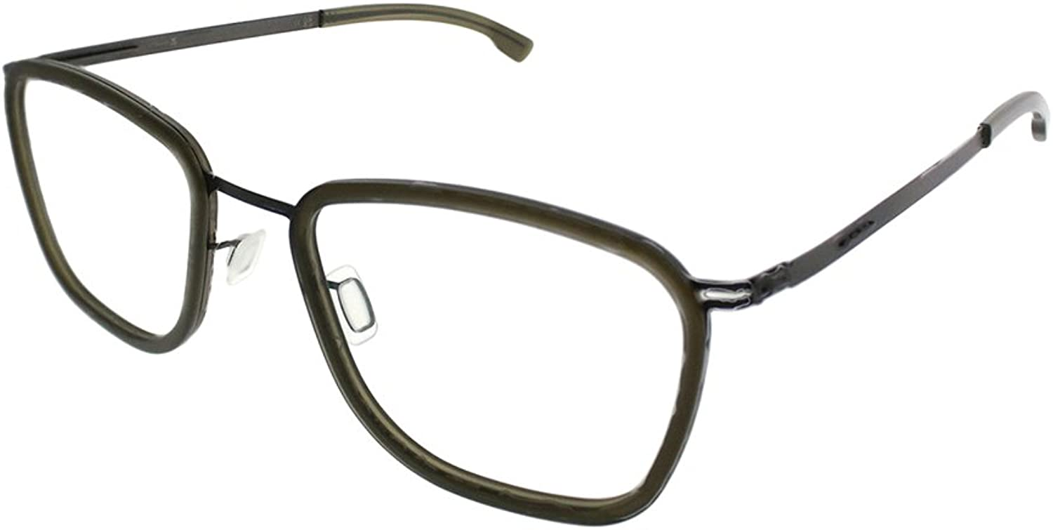 Ic  Berlin Taku Graphite Seaweed Mily Plastic Square Eyeglasses 51mm