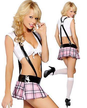 Costume 3 pièces d'écolière sexy pour femme - Taille 36-40