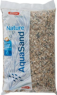 Zolux Naturkies für Aquarien, Quarz, 3 bis 8 mm, Körnung, 1 kg