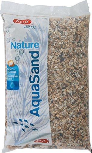 Zolux Kies Natur für Aquarium Quartz Große von 3bis 8mm von granulométie–5kg