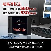SanDisk サンディスク 内蔵 SSD 2.5インチ / SSD Ultra 3D 500GB SATA3.0 / SDSSDH3-500G-G25