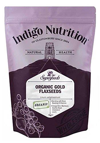 Indigo Herbs Semillas de Linaza/Lino Dorado Orgánicas 1kg