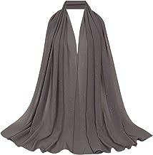 Editha Women Solid Color Muslim Headscarf Turban Lightweight Jersey Hijab Scarf Wrap