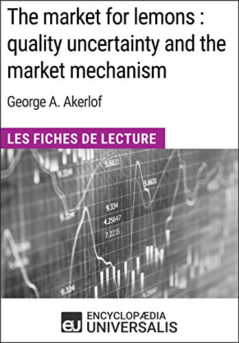 The market for lemons : quality uncertainty and the market mechanism de George A. Akerlof: Les Fiches de Lecture d'Universalis