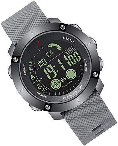LLDKA Orologi Bluetooth Intelligenti degli Uomini della vigilanza Impermeabile di Sport contapassi cronometro delle chiamate Intelligente Orologio News Alerts,Grigio