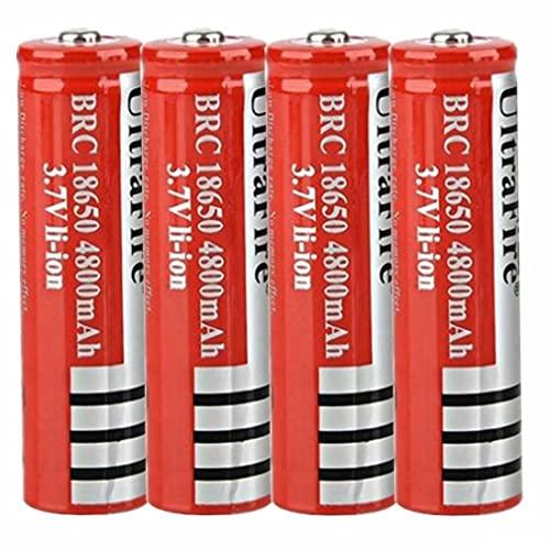 N / E 18650 batería Recargable, 3.7 Ion de Litio botón de la batería Superior 18650 Battery Pilas 18650 Recargable 3,7 v Alto Rendimiento 1500 ciclos de Carga para Linterna 18650