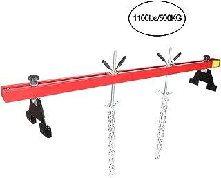 Qiilu Adjustable Engine Load Leveler Hoist Repairing Hanger 1100lbs/500KG Capacity Dual Hook
