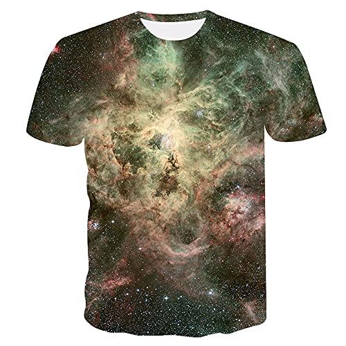 Casual Camicie Uomo Estate Moda Girocollo Uomo T-Shirt personalità 3D Stampa Manica Corta Sportiva Shirt Urbano novità Creativa Streetwear Shirt AE068 XL