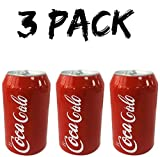 Skywin Silicone Can Sleeve (3 Pack) - Beer Can Cover can Hides Beer Can by Disguising it as a Can of Soda (Red)