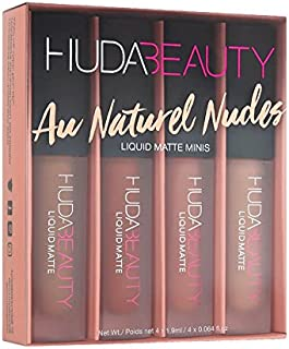 HUDA BEAUTY Liquid Matte Minis Aw Naturels Nudes Edition - Bikini Babe, Sugar Mama, Girlfriend, Trendsetter 4 x 0.064 oz