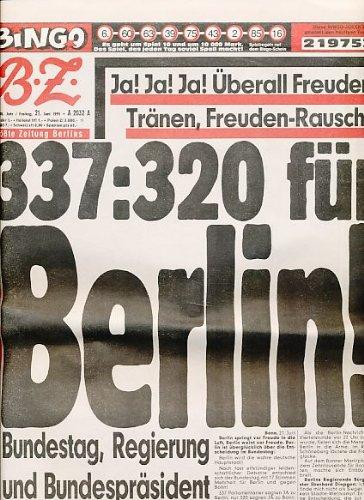 B.Z. Die größte Zeitung Berlins. Nr. 142/25, Freitag 21. Juni 1991.