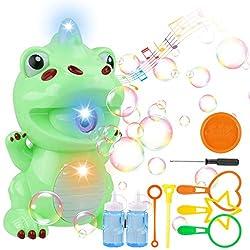 4. LiteBee Automatic Dinosaur Bubble Blower Machine