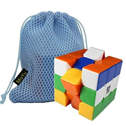 Gobus MoYu Aolong V2 Speed Cube Cubo mágico Mejorado Aolong 3x3 sin Etiqueta con una Bolsa de Cubo Stickerless