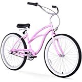 Firmstrong Urban Lady Single Speed Beach Cruiser Bicycle, 24-Inch, Pink