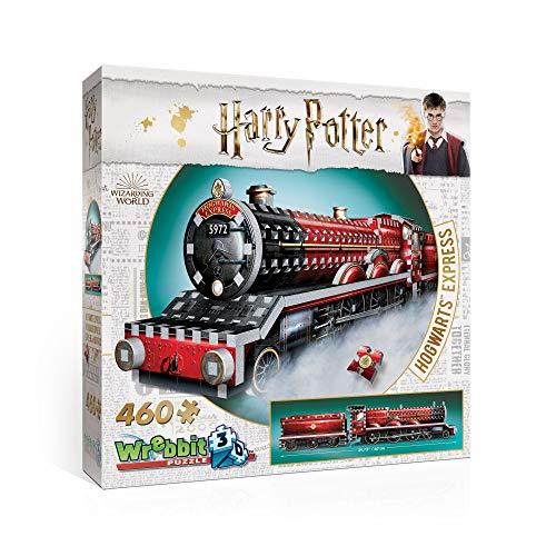 Wrebbit 3D-El Expresso de Hogwarts Harry Potter Puzzle 3D, Multicolor, 460 Piezas (W3D-1009)