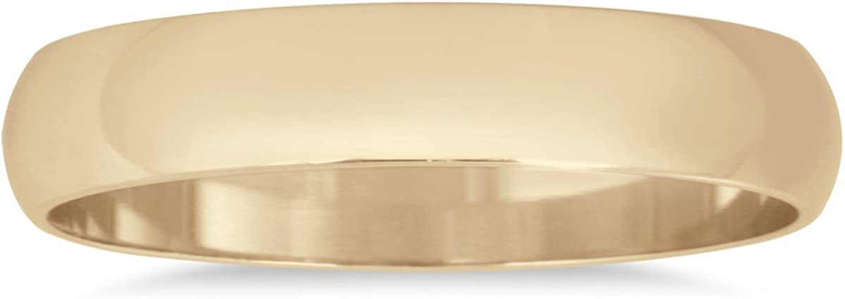 3mm Domed Wedding Band in 10K Yellow Gold
