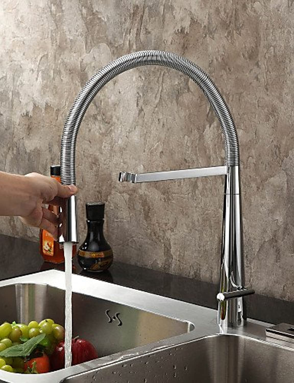 - Kitchen Faucet Contemporary Pre Rinse Brass Chrome