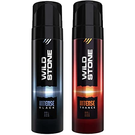 Wild Stone Intense Black and Trance No Gas Deodorant for Men, Pack of 2 (120ml each)