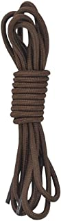Coffee Color Round Athletic Shoe and Sports Shoelaces 2 Pair