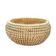 Ten Thousand Villages Rounded Kaisa Basket Bowl, Tan, 10