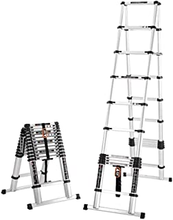 YXIAOL Extendable Alminium Ladders Telescopic Folding Extending Portable Steps Loft Extension Ladder DIY Multi Purpose