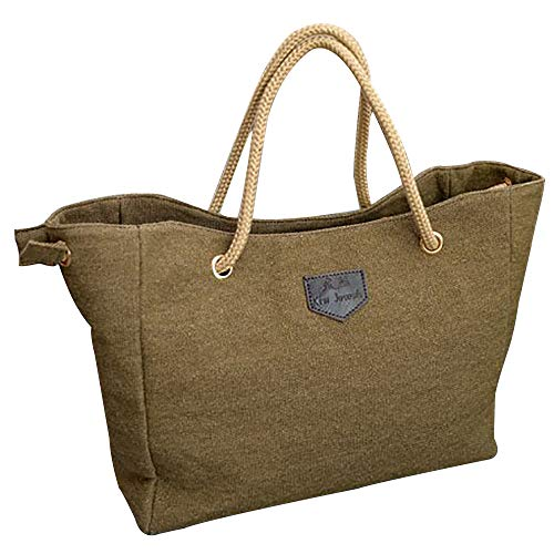 Todaies Women Canvas Big Bag Trend Simple Shopping Bag Shoulder Bag