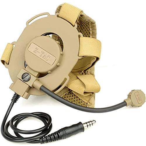 ZTAC Z-Tactical Military Microphone Elite II Bowman Elite II Headset Tactical Adjustable Headset Fit All PTT Plug,Tactical Headphones,Anti Noise Headphones,Outdoor Headphones,walkie Talkie, Z029-DE