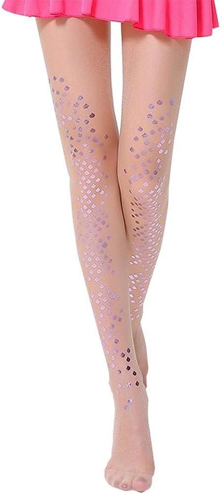 Vikenner Women's Mermaid scales Pantyhose Bright Pearlescent Hosiery Stockings
