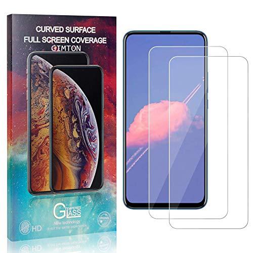 GIMTON Displayschutzfolie für Huawei Honor 9X Pro, 9H Härte Anti Fingerprint Displayschutz, Ultra Dünn Schutzfilm aus Gehärtetem Glas für Huawei Honor 9X Pro, 2 Stück