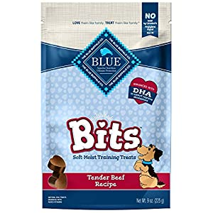 Blue Buffalo Blue Bits Natural Soft-Moist Training Dog Treats, Beef Recipe 9 Oz Bag