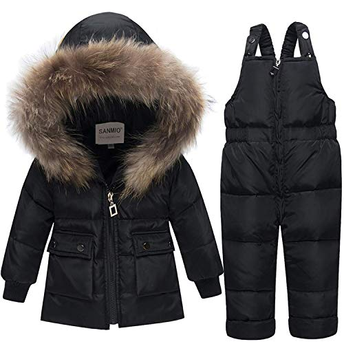 SANMIO 2 Pezzi Tuta da Sci Bambino Imposta Caldo Invernale Salopette Giacca + Pantaloni da Sci Tuta da Neve Snowsuit