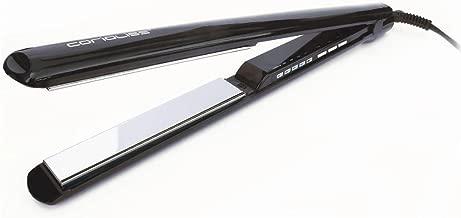 Corioliss C3 - Plancha de pelo, placas basculantes de titanio, temperatura máxima de 235° C, diseño ergonómico, cable de 2,5 m, color negro