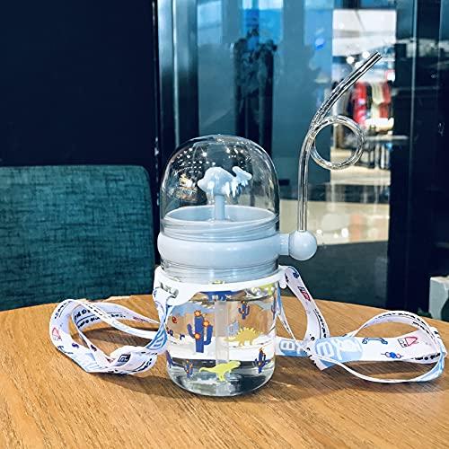 smallbear21 Cute Kids Whale Spray Water Cup, Taza de Agua portátil para niños con Pajita, para Alimentar al Aire Libre de bebés Taza a Prueba de caídas Adecuada (250 ml) (High-Grade Ash)