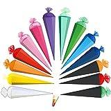 alles-meine.de GmbH Schultüte - einfarbig - Rohling / Bastelschultüte - GRÜN - 70 cm - mit Holzspitze / Filzabschluß - Roth - Zuckertüte zum Basteln, Bemalen und Bekleben