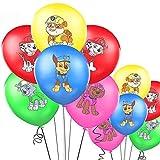 Yisscen Paw Dog Patrol Globo, 50 Piezas Paw Dog Patrol Birthday Decoration Set, Globo Colorido, Globos de decoración de cumpleaños para niños, Paw Dog Patrol Globos Decoraciones para Fiestas