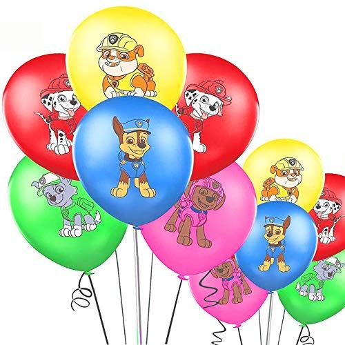 Yisscen Paw Dog Palloncino, 50 PCS Paw Dog Birthday Decoration Set, Palloncino colorato, Palloncini Decorazione Compleanno per Bambini, Palloncini Paw Dog per Bambini Decorazioni