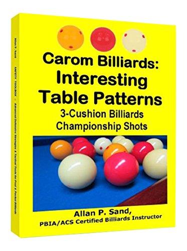 Carom Billiards: Interesting Table Patterns: 3-Cushion Billiards Championship Shots (English Edition)