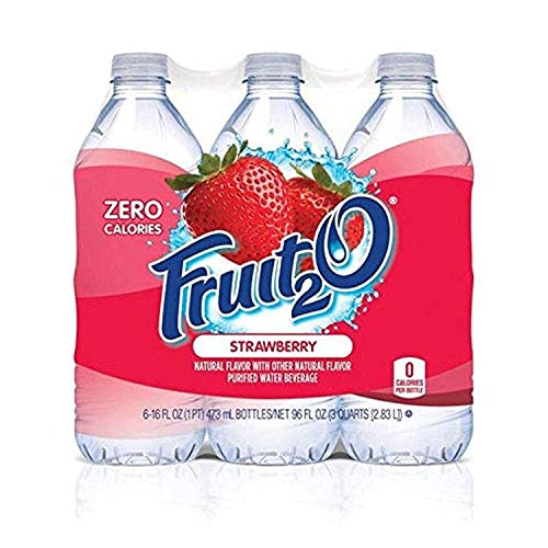 flavored waters Fruit2O Zero Calorie Flavored Water, Strawberry, 6 Count (Pack of 4)