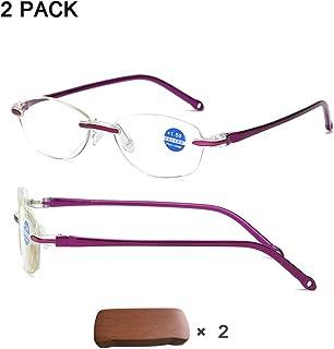 38c582fb74 DLDL Gafas de Bloqueo de luz Azul Leer Caja de presbicia, Gafas de Lectura  de