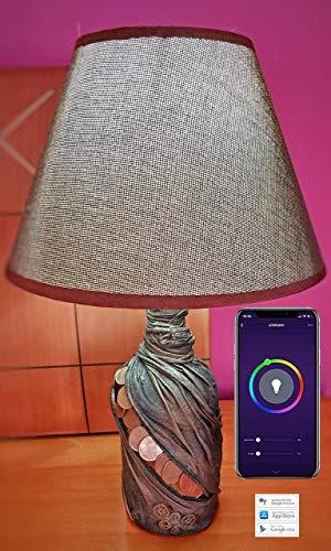 Botellas con suerte - Lampara Wifi inteligente - Hechas a mano - Control desde Movil - Domotica Multicolor