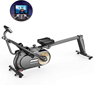 Rowing Machine,Rowing Machine Foldable Magnetically Controlled Indoor Mute,Rowing Machine for Home Use Fitness Equipment S...