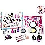 Mi primer kit de maquillaje de princesas: maquillaje para niños, maquillaje lavable para niñas, estos juguetes de maquillaje para las niñas incluyen que toda su princesa necesita para jugar viene,Gh1