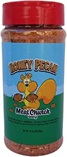 Meat Church Honey Pecan BBQ Rub and Seasoning for Meat and Vegetables, Gluten Free, 14 Ounces