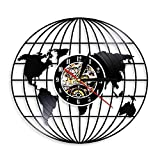 LKJHGU Mapa del Mundo de Vinilo Reloj de Pared de Vinilo Record World Travel decoración diseño...