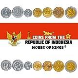 Juego de 7 Monedas de Indonesia. 5, 10, 25, 50, 100, 500, 1000 rupias. 1974-2003