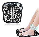 Masajeador de pies eléctrico EMS, Pulsos de Baja Frecuencia Estimulación Muscular Eléctrica, Cojín de Masaje de Pies Fisioterapia Inteligente para Mejorar la Circulación Sanguínea
